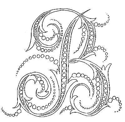 encore une belle serie d' initiales - Broderie d'Antan