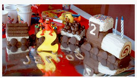 mini mocha: Sesame Street Train Cake