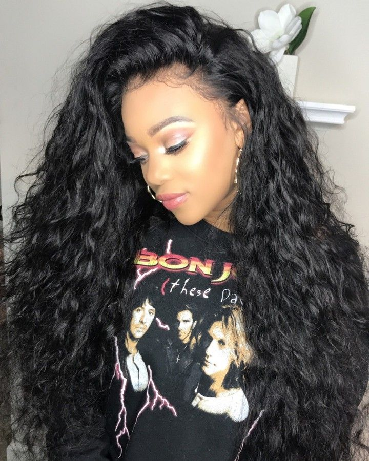 Water Wave 360 Lace Frontal Wig With Baby Hair Wig Hairstyles