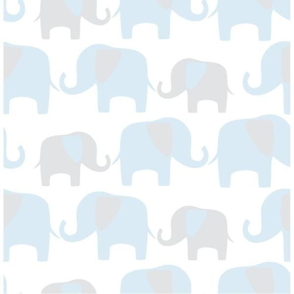 Nuwallpaper Vintage Tin Tile Peel And Stick Vinyl Strippable Wallpaper Covers 30 75 Sq Ft Nus2213 The Home Depot Elephant Wallpaper Peel And Stick Wallpaper Elephant Parade