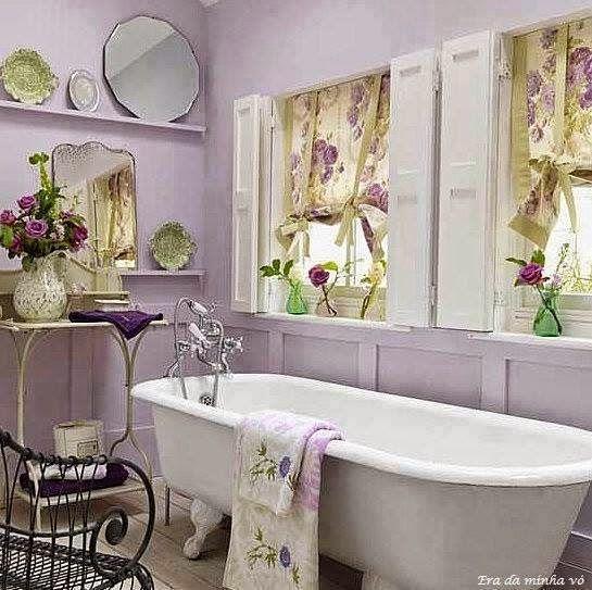 Die besten 25+ Cottage style purple bathrooms Ideen auf Pinterest - shabby chic badezimmer