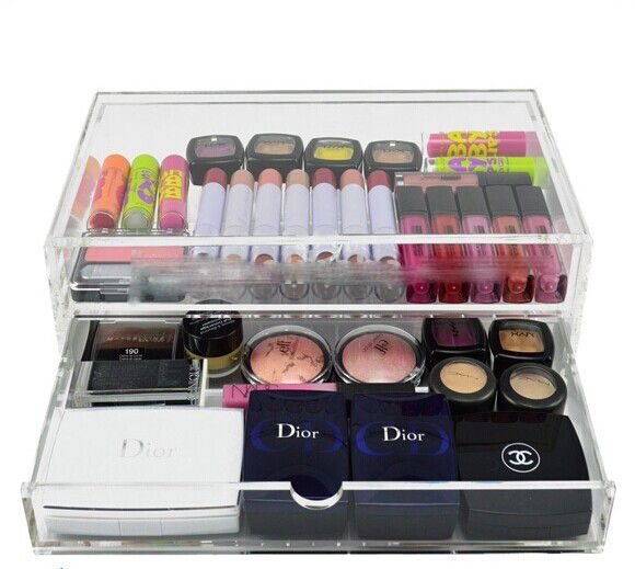 Clear Acrylic Makeup Display Drawer