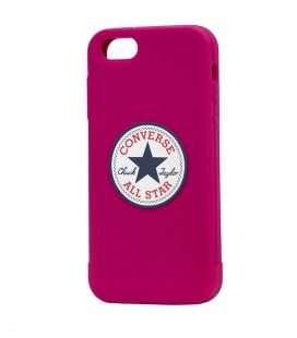 Coque iPhone 5/5S CONVERSE silicone rose fushia