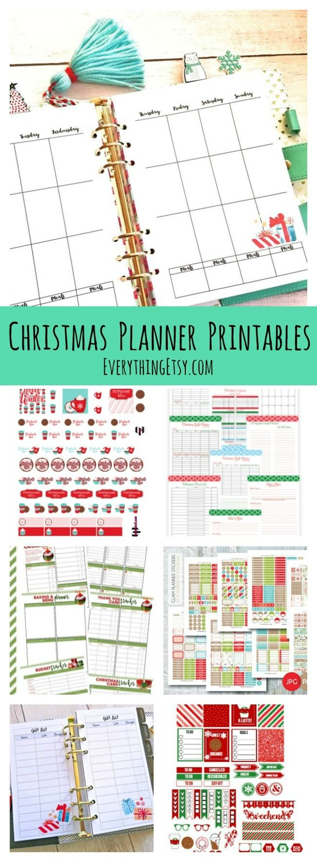Christmas Planner Printables - Free Holiday Planners and Planner Stickers - EverythingEtsy.com