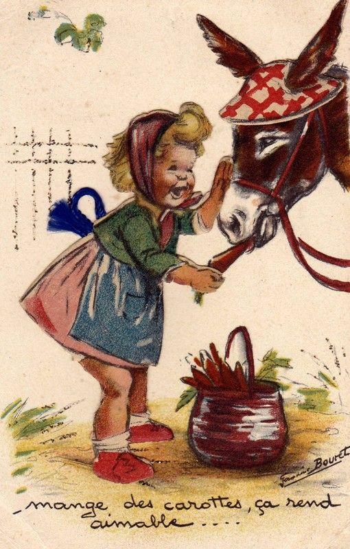 """Germaine Bouret """"Mange des carottes, ça rend aimable ... """""""