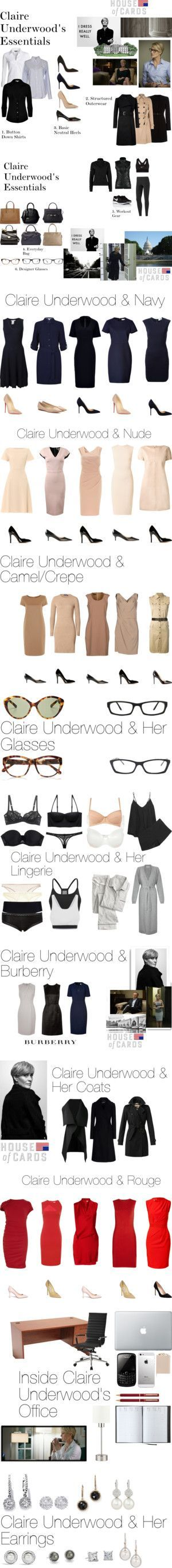Claire Underwood's Wardrobe by oliviapope411 on Polyvore featuring NIC+ZOE, Ralph Lauren, Marella, Hobbs, Ted Baker, Manolo Blahnik, Jimmy Choo, Christian Louboutin, James Perse and Burberry