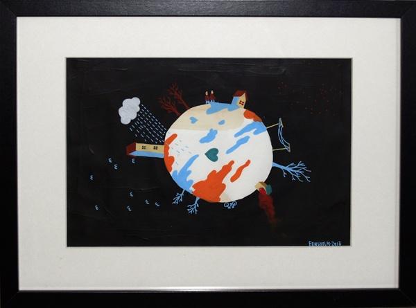 """Simon Fensholm """"Min egen lille planet"""" A4"""