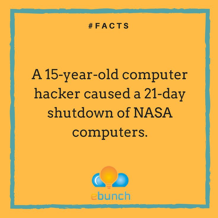 He became the first young hacker to be incarcerated for computer crimes.	http://www.kickassfacts.com/30-kickass-interesting-facts-about-computers/	#SurprisingFacts #Videos #Sharing #Viral #SocialMedia #InternetUsers #DailyFacts #ComputerHacking