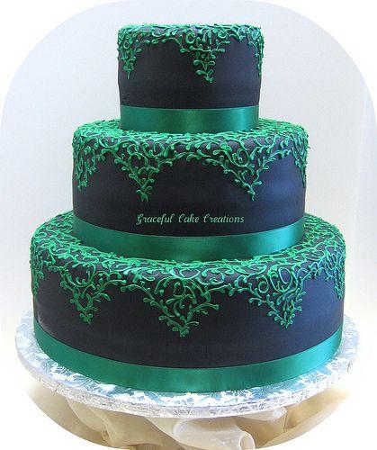 Wedding Cake Designs Blue And Green : Best 25+ Emerald green weddings ideas on Pinterest ...