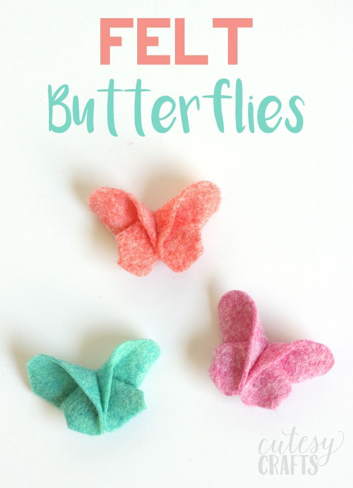 Fold felt like origami to make these adorable felt butterfly hair clips!