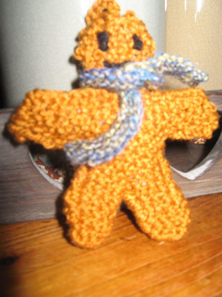gingerbread mannetje gebreid