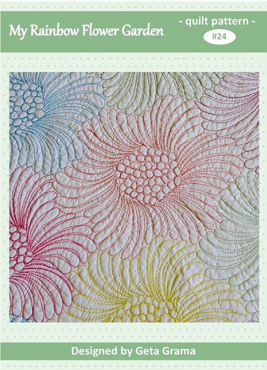Wholecloth Quilt Pattern - see her use of many colors of thread