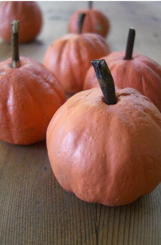 Salt dough pumpkins.