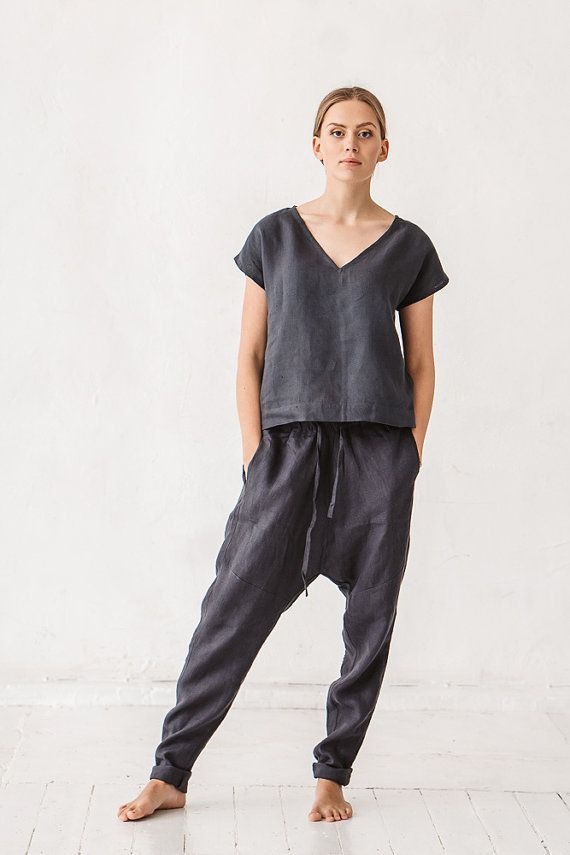 Size Medium please haha Hey, I found this really awesome Etsy listing at https://www.etsy.com/listing/487738635/harem-pants-linen-pants-woman-pants