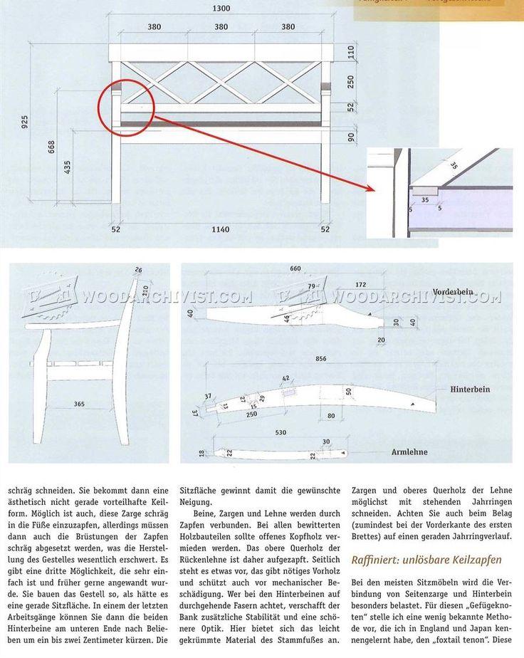 # 2666 Построить Сад скамьи - на открытом воздухе Мебель планы