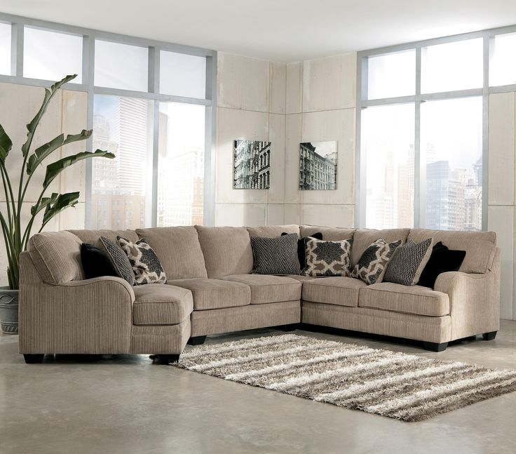 Signature Design By Ashley Furniture Katisha   Platinum Sectional Sofa With  Left Cuddler   Samu0027s Appliance U0026 Furniture   Sofa Sectional