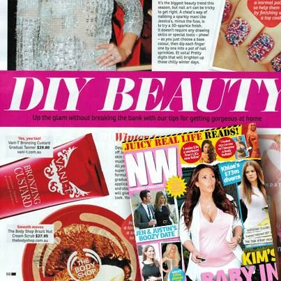 No time to head to the salon? Well NW Magazine Australia has all the top picks for DIY beauty at-home, even your tan! Check out our Bronzing Custard in this week's beauty section of NW.