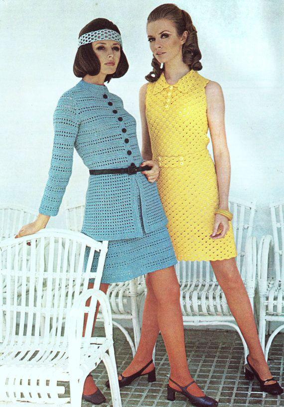 INSTANT DOWNLOAD PDF Vintage Crochet Pattern 1970s Mini ...