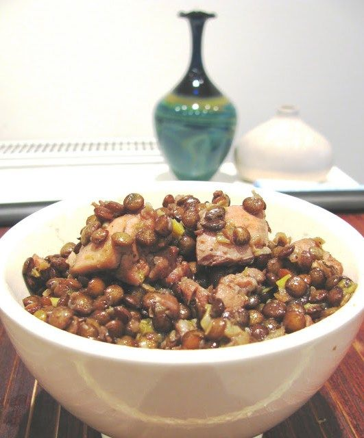 Chicken and Puy Lentil Casserole -