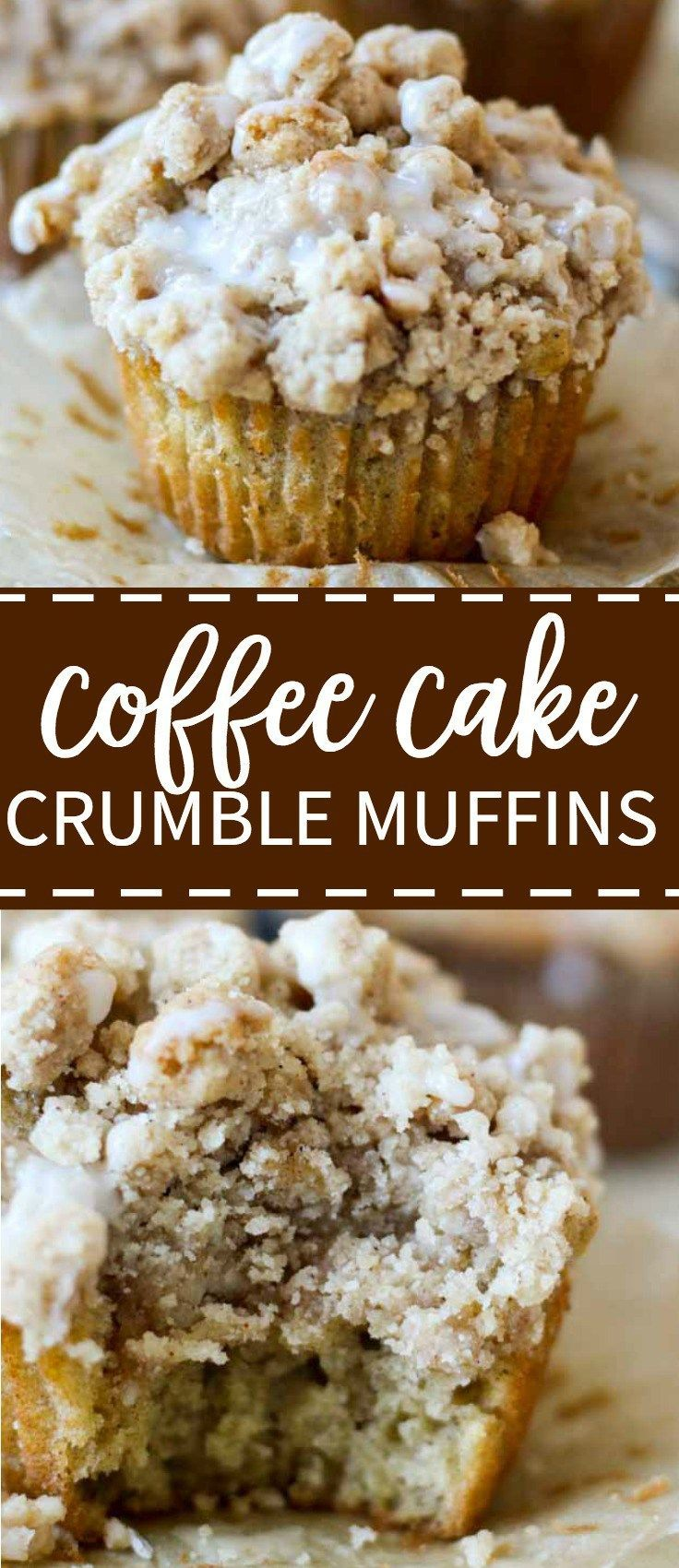 Soft and light coffee cake crumble muffins are topped with a crumbly, buttery streusel top overflowing as you pull them out of the oven. They're explosions of flavor in your mouth.