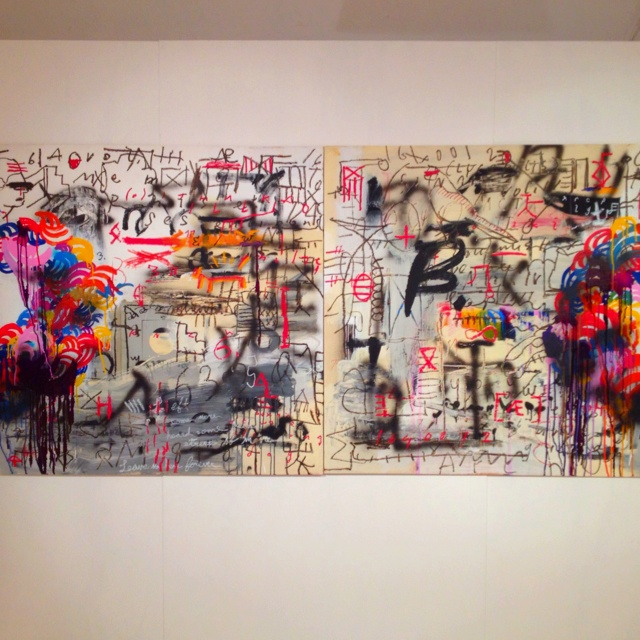 """Archipelago"" by Charles Munka and TEEBS. On exhibit now at SeventyEightPercent. #art #HongKong"