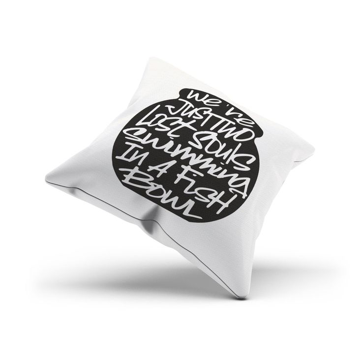 "Pink Floyd ""Wish You Were Here"" Song Lyrics Pillow Cover"