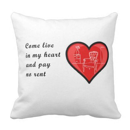 Cute Valentine message pillow! Throw Pillow - valentines day gifts gift idea diy customize special couple love