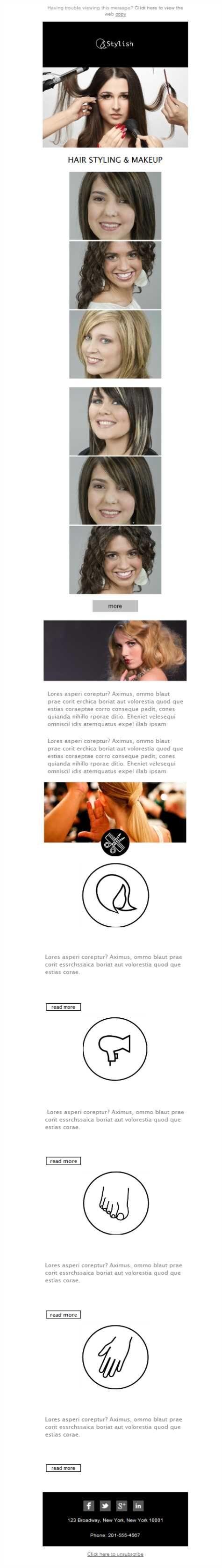 Exprime todo el potencial de tu salón de belleza con las plantillas newsletter de Mailify.