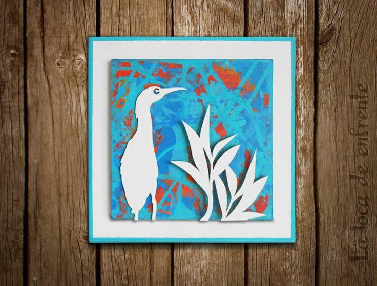 """serie """"birds and floral"""" :: TURQUOISE :: La loca de enfrente"""