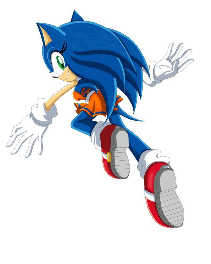 Sonic the Hedgehog Gender Bender by Sorikku za Hejjihoggu.  Soric the Hedgehog [SXEnd3]