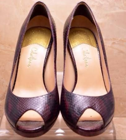 Cole Haan Nike Air Women's Snake Embossed Leather Open Toe Pumps Size Cole  Haan · Size