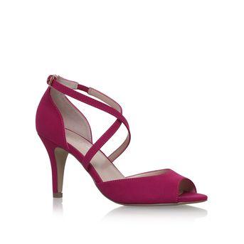 Koko Pink Mid Heel Sandals from Carvela Kurt Geiger