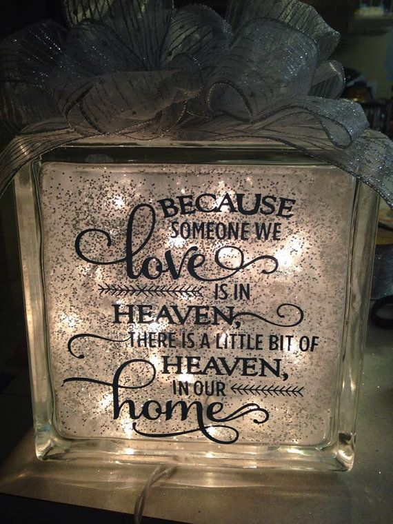 Lighted Glass Cube With Sympathy Quote By ChateauRenu On