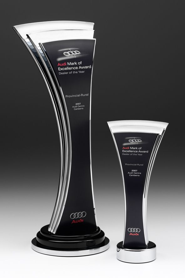 Audi Australia Dealer of the Year Awards | Modern Trophy Design | Design Awards