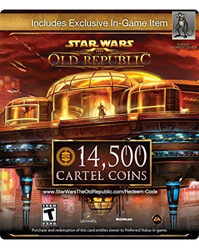 Star Wars The Old Republic 14,500 Cartel Coins + Exclusive Item [Online Game Code] - http://www.rekomande.com/star-wars-the-old-republic-14500-cartel-coins-exclusive-item-online-game-code/