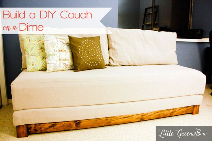 Learn how to make a diy couch that makes out to a bed for for Diy convertible sofa bed