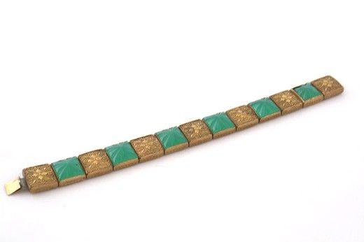 Винтажный браслет. Металл, стекло. 1930-е гг. Европа. #vintage #jewellery #jewelry #trendy #style #chic #women #gift