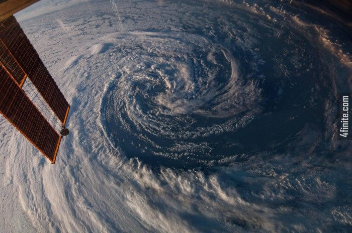 ISS Uzay Üssünden Çekilen Muhteşem Bir Kare - Avusturalya'nın Üzerinedeki Fırtına Bulutları - 4finite.com