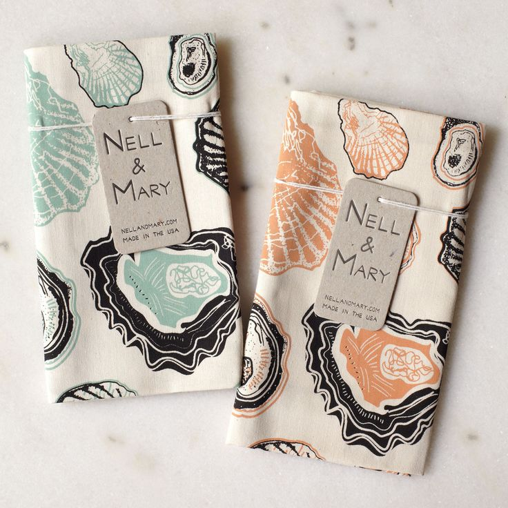 Oyster Tea Towel at Lesouque - a curated collection of homewares from independent designers around the world.