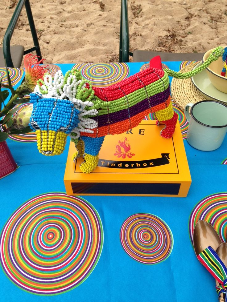 Table Decor proudly SA party Proudly South African