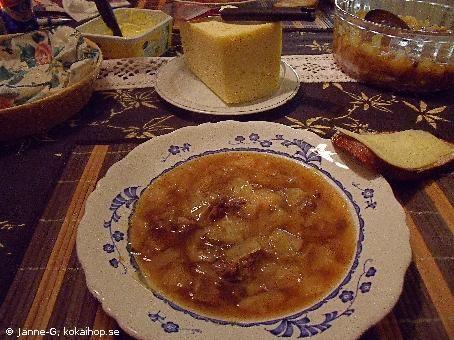 Recept - Brynt kålsoppa