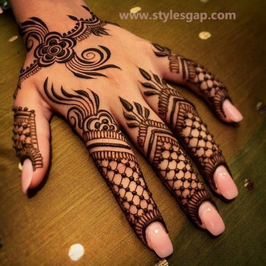 Simple & Easy Eid Mehndi Designs 2016-2017 Latest Collection  (36)