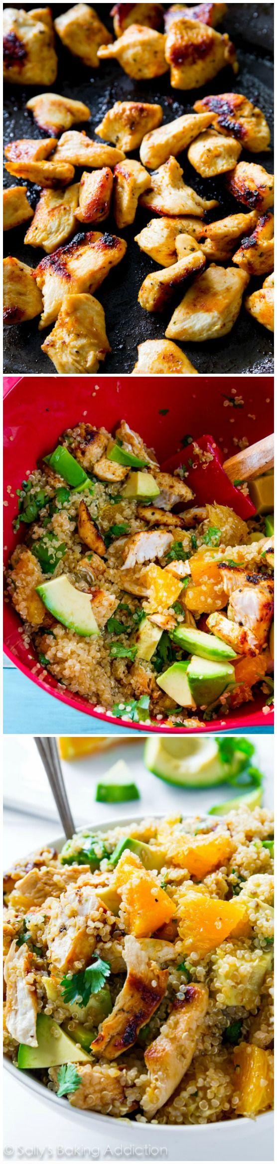 Citrus Chicken Quinoa Salad.