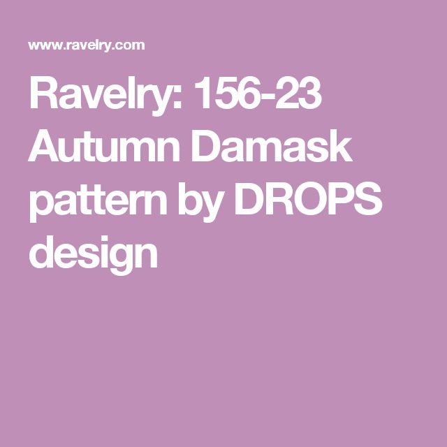 Ravelry: 156-23 Autumn Damask pattern by DROPS design
