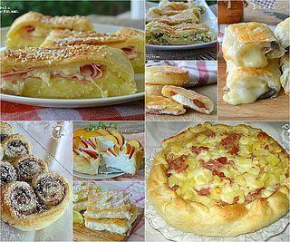 Raccolta di ricette con la pasta sfoglia dolci e salate, torte, stuzzichini, sfogliatelle, la pasta sfoglia in cucina è una mano santa, nel mio frigorifero non manca mai un rotolo, è ottima per realiz