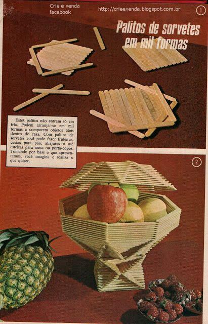 Crie e venda  Crie lindas fruteiras com palito