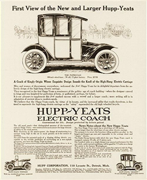 Best Hupp Yeats Electric Car Ads Images On Pinterest