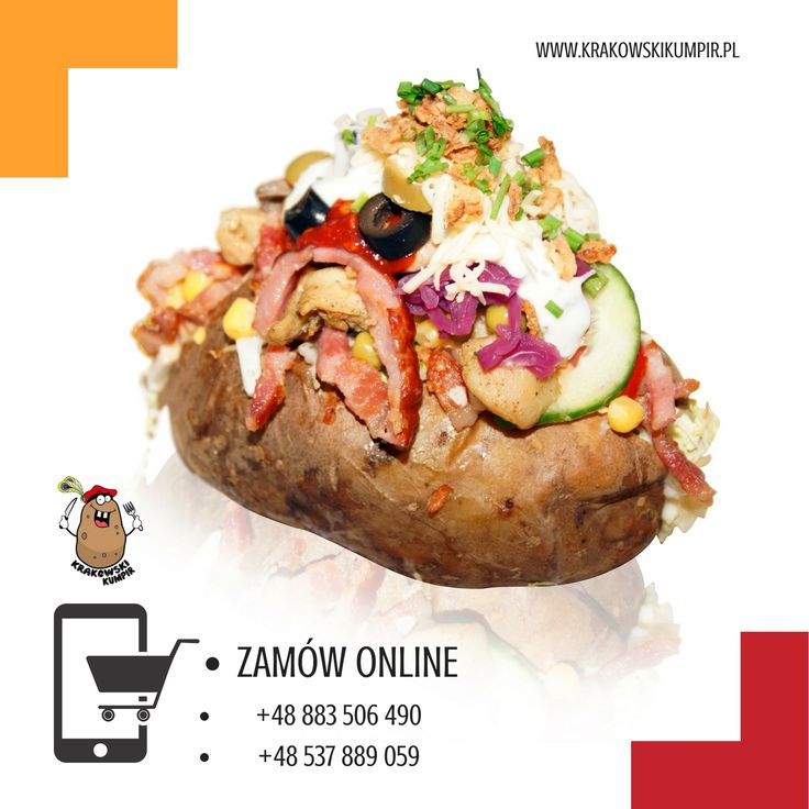 ☛ ZAMÓW ONLINE ☚ http://krakowskikumpir.pl/zamow-online/ ☚ #krakowskikumpir #kumpir #bar #pieczonyziemniak #ziemniak #potato #bakedpotatos #kraków #krakow #poland #googfood #food #lokal #online #lunch #telefon