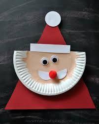 Un bricolage de Père Noël pour les petits! Un nouveau modèle!