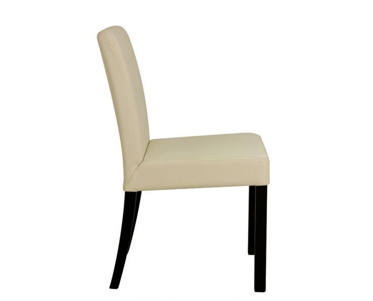 Evon Dining Chair (White Leather & Stained) - Furniture | Weylandts South Africa
